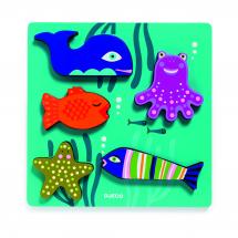 Пазл-сортировка Морские животные