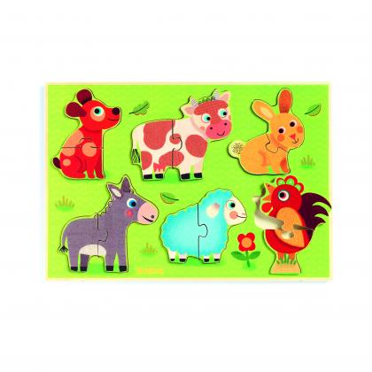 Рамка-вкладыш Животные на лугу (уценка)