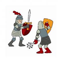 Набор трафаретов Рыцари
