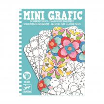 Мини-раскраска Цветочные мотивы