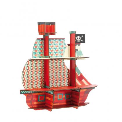 Пазл-полочка Пиратский корабль (уценка)