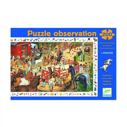 Пазл и игра на наблюдательность Скачки, 200 деталей