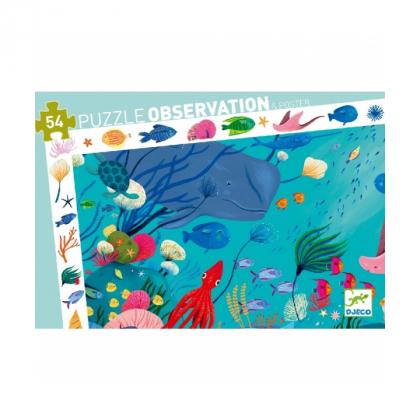 Пазл и игра на наблюдательность Океан, 54 детали