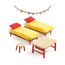 Мебель для кукольного дома Спальня для детей