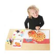 Раскраска с пальчиковыми красками Композиция