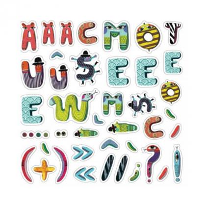 Наклейки Алфавит Зверюшки