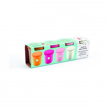 Набор пластилина, 4 пастельных цвета