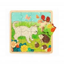 Деревянный пазл Игра в траве