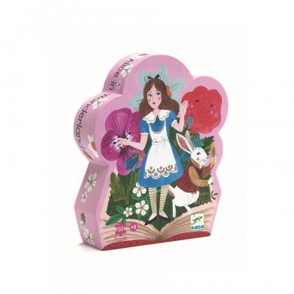 Силуэтный пазл Алиса в стране чудес
