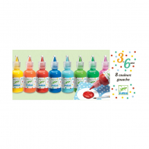 Набор пальчиковых красок, 8 цветов