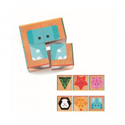 Кубики Животные, 4 шт