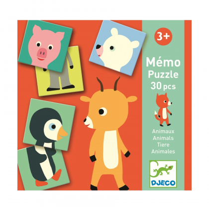 Настольная игра Мемо-пазл Животные