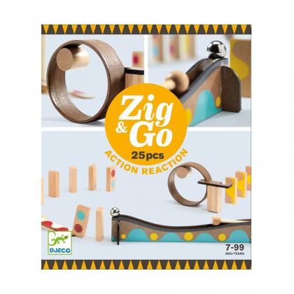 Конструктор Djeco Zig&Go, 25 деталей