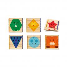 Развивающая игра Djeco Basic Puzzles