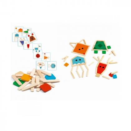 Развивающая игра Пазл-палочки