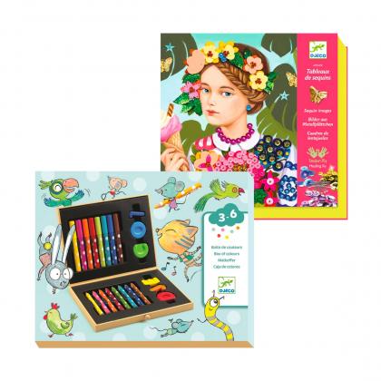 Мини художественный набор + набор для творчества Девочка