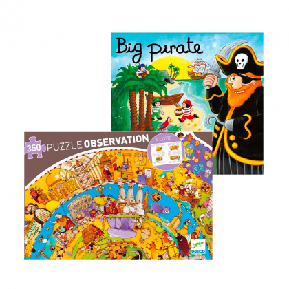Настольная игра Большой пират + пазл История