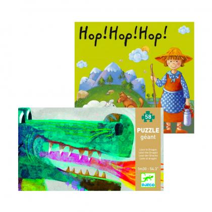 Настольная игра Хоп, хоп, хоп! + пазл Дракон