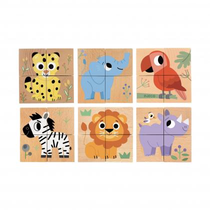 Кубики деревянные Джунгли