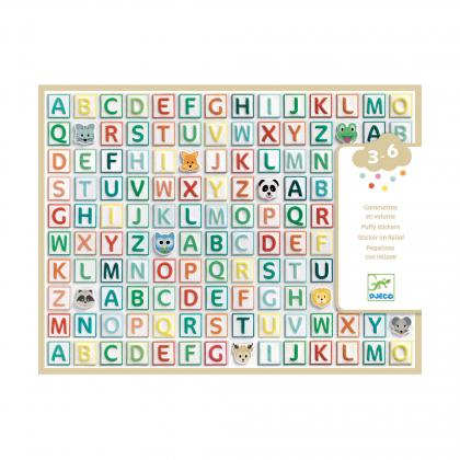 Набор объемных наклеек Латинские буквы